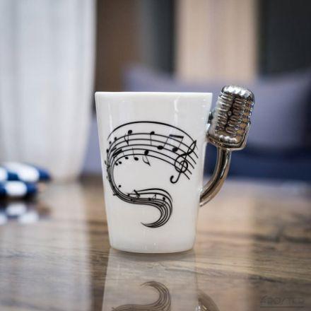 Kubek muzyka mikrofon prezent dla dziewczyny