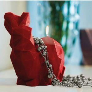 Świeca królik Poly bordo prezent dla niej