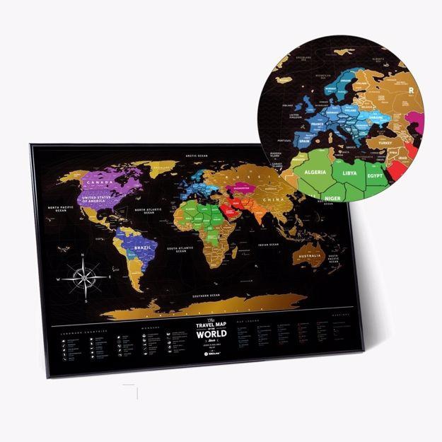Mapa zdrapka prezent dla szefowej