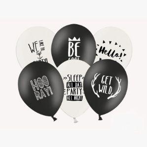 balony party black&white akcesoria na imprezę