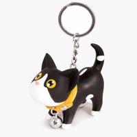 brelok kot czarny z łatami prezent dla niej