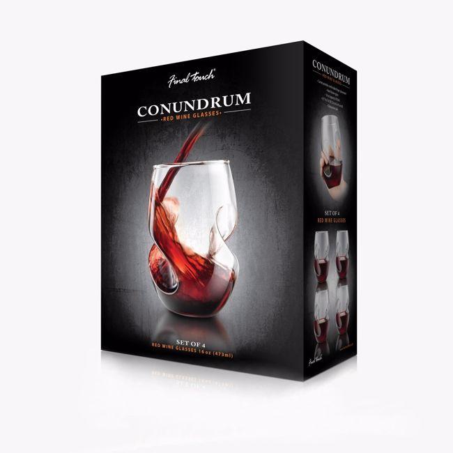 Conundrum kieliszki do czerwonego wina prezent na urodziny