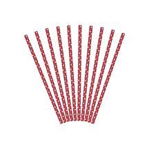 Papierowe Słomki - Czerwono Białe - Kropki gadziety imprezowe