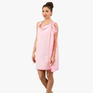 Ręczniko-Szlafrok - Różowy prezent dla niej