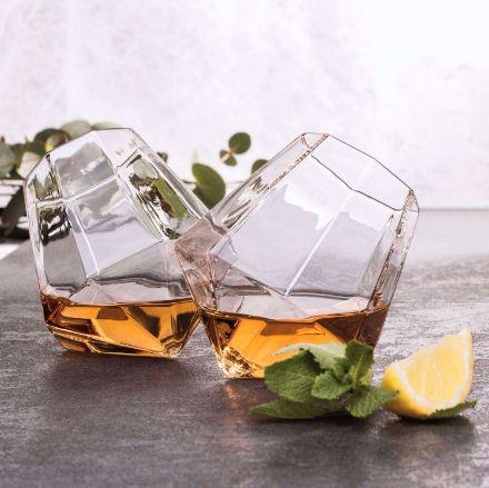 Szklanka diament do whiskey prezent dla taty