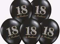 Balony Na 18 Urodziny – Czarne Brillant warszawa