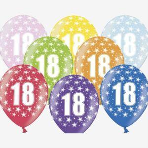 Balony na 18 urodziny kolrowe Warszawa