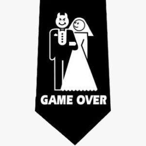 Krawat gam Over Diabełek Akcesoria na wieczór kawalerski