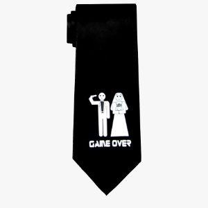 Krawat Kawalerski Game Over Prezent dla niego