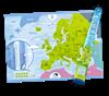 Mapa zdrapka europa prezent dla niej