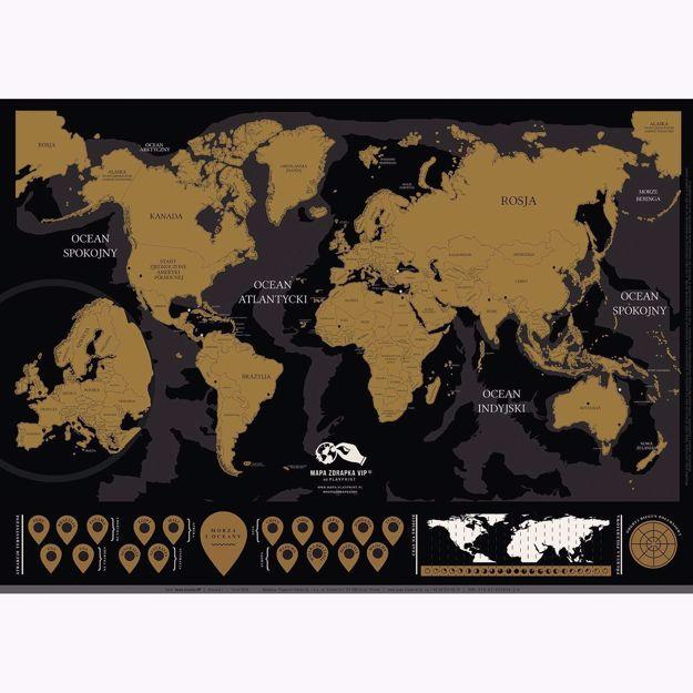 Mapa zdrapka VIP prezent dla niego warszawa