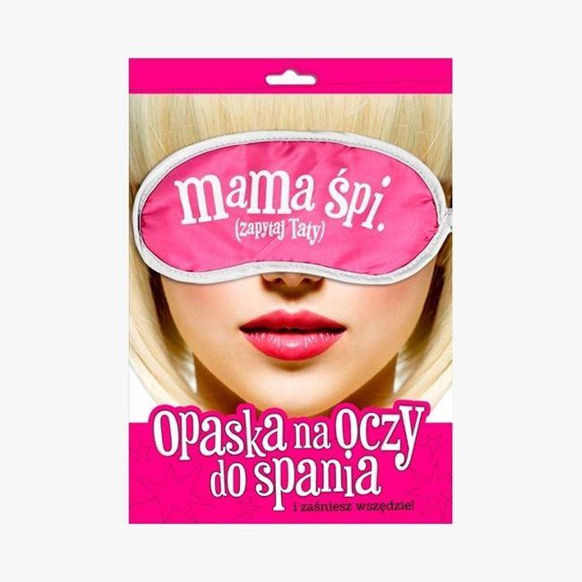 Opaska Mama Śpi Zapytaj Taty śmieszny prezent dla mamy