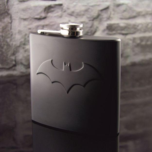 Czarna Piersiówka Batman prezent dla niego warszawa