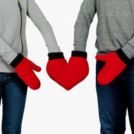 Zakochane Rękawiczki Serca prezent na walentynki