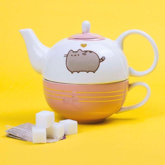 Pusheen zestaw do herbaty prezent dla niej