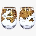 Szklanki z globem vintage prezent dla szefa warszawa