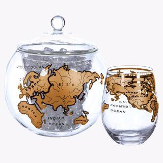 Pojemnik na lód globe vintage prezent dla szefa