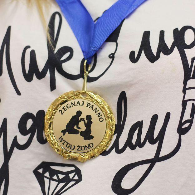 Złoty medal Panny prezent na wieczór panieński warszawa