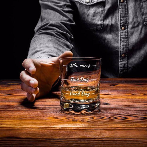 Szklanka do whisky who cares prezent dla niego