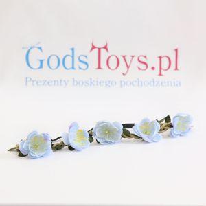 Wianek z kwiatów błękitne lilie prezent na wieczór panieński sklep warszawa