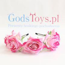 Opaska z Dużymi różowymi różami sklep warszawa