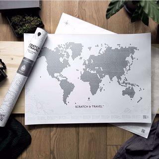 Mapa zdrapka loft prezent dla szefowej warszawa