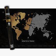 Mapa zdrapka świata loft black prezent dla niej warszawa