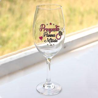 Wielki kielich do wina Panna Młoda prezent na panieński warszawa