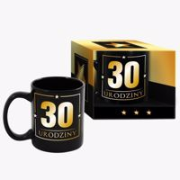 Wielki kubek urodzinowy 30-tka black prezent na urodziny warszawa