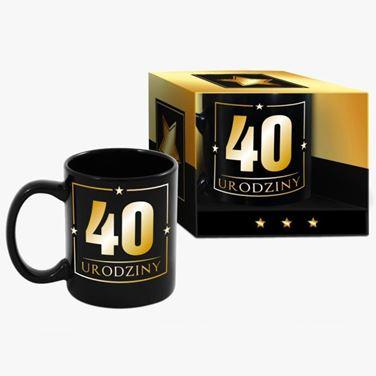 Wielki kubek urodzinowy 40-tka black prezent dla niego warszawa