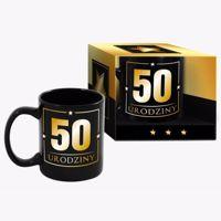 Wielki kubek urodzinowy 50-tka black prezent na urodziny warszawa