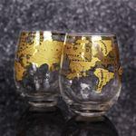 Szklanki z globem vintage prezent dla szefa