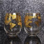Szklanki z globem vintage prezent dla szefowej warszawa sklep