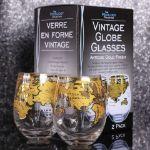 Szklanki z globem vintage prezent dla nauczyciela warszawa