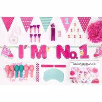 dekoracje Urodzinowe na Roczek – I'm no 1 - Różowy sklep warszawa