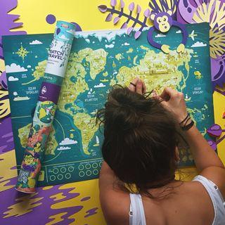 Familijna Mapa Zdrapka – Mapito prezent na święta