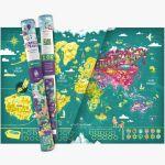 Familijna Mapa Zdrapka – Mapito prezent na święta dla dzieci warszawa