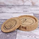 Vinbouquet – Zestaw 5 Podkładek Korkowych  prezent na parapetówkę