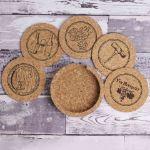 Vinbouquet – Zestaw 5 Podkładek Korkowych  prezent na parapetówkę sklep warszawa