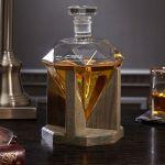 Karafka Diament Drewniany Stojak prezent na święta