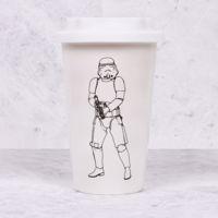 Ceramiczny Kubek Podróżny – StormTrooper – Biały  prezent dla ojca