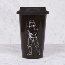 Ceramiczny Kubek Podróżny – StormTrooper – Czarny prezent dla niego