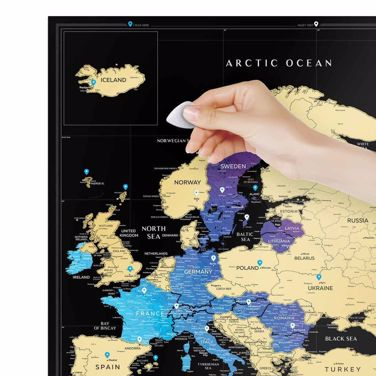 Mapa Zdrapka - Travel Europe – Black prezent dla niej