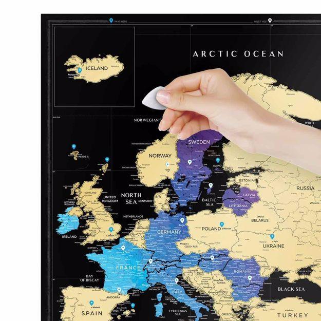 Mapa Zdrapka - Travel Europe – Black prezent dla niej