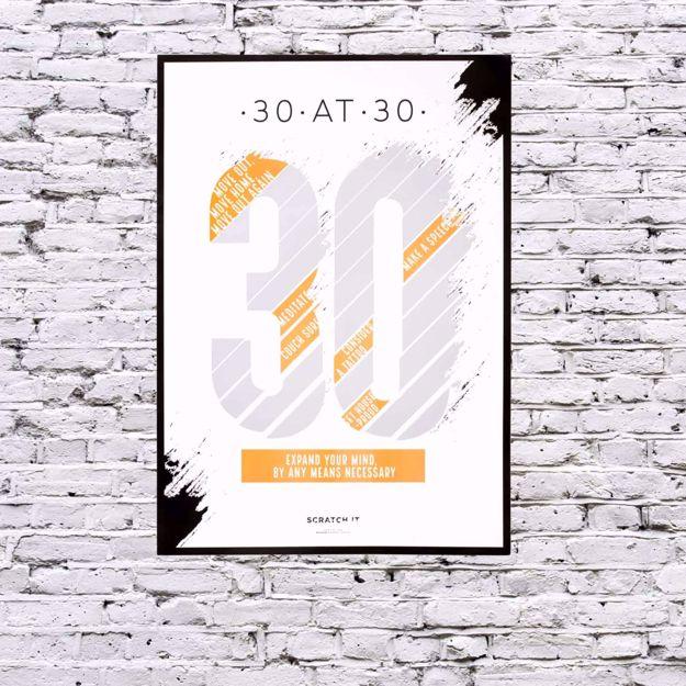 Plakat Zdrapka na 30 Urodziny prezent na urodziny dla niej