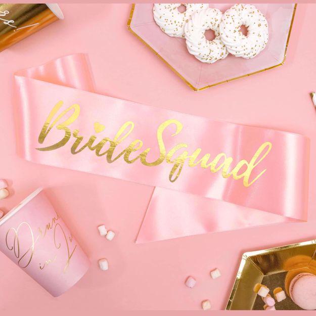 Szarfa – Bride Squad – Jasnoróżowa wieczór panieński