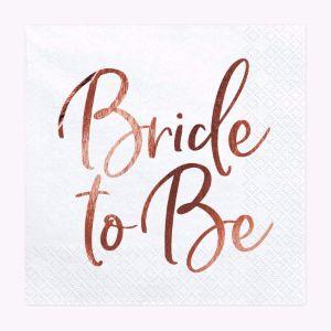 Serwetki – Bride to Be – Różowe Złoto Sklep na wieczór panieński