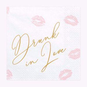 Serwetki – Drunk in Love Akcesoria na wieczór panieński sklep