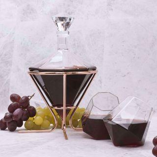 Diamentowy Zestaw – Karafka + 2 Szklanki prezent dla taty
