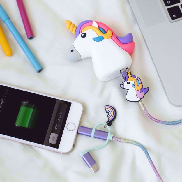 Powerbank kolorowy jednorożec prezent dla dziewczyny